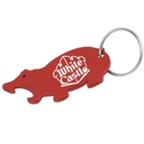 Pig Shaped Bottle Opener Keychain