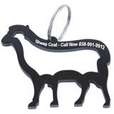 Sheep Shaped Bottle Opener Keychain