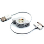 Retractable iPhone Sync+Charging Cord