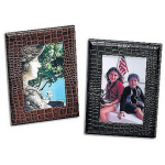 Croco Cowhide Leather Picture Frame