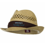 Vented Natural Straw Hat with Band