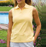 Sleeveless Stretch Pique Polo