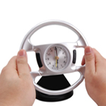 Steering Wheel Alarm Clock