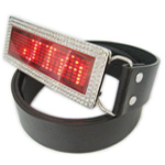 Led Rhinestone Belt Buckle