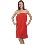 Womens Terry Velour Spa And Bath Wrap