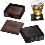 Recycled Leather Coaster Set