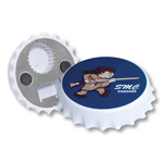 Jumbo Size Coaster Shape Magnetic Bottle Opener