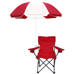 Folding Chair with Umbrella