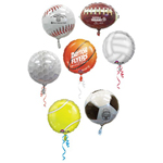 18 In Sport Mylar Foil Balloon