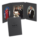 Tri Fold Leather Photo Frame