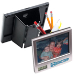 Picture Frame Clock Pencil & Pen Box