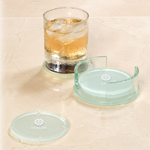 Round Glass Coaster Set