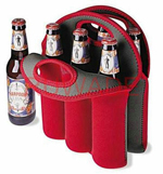 6 Pack Neoprene Bottle Cooler Bag