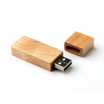 256MB Rectangular Bamboo USB Flash