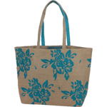 Design Print Jute Tote Bag