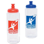 16 Oz Crystal Clear Sports Bottle