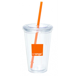 16 Oz Double Wall Twist Plastic Cup