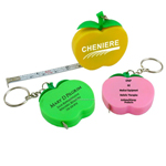 Apple Tape Measure Key Ring